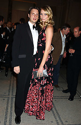 Model JODIE KIDD and her husband AIDEN BUTLER at the 2005 British Fashion Awards were held at The V&A museum, London on 10th November 2005.<br /> <br /> NON EXCLUSIVE - WORLD RIGHTS