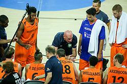 Toon van Helfteren, head coach of Netherlands during basketball match between Slovenia vs Netherlands at Day 4 in Group C of FIBA Europe Eurobasket 2015, on September 8, 2015, in Arena Zagreb, Croatia. Photo by Matic Klansek Velej / Sportida