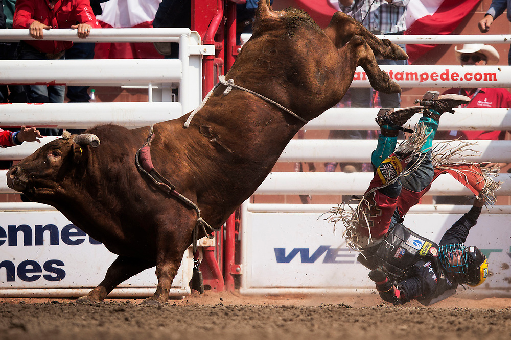 during the finals of the Calgary Stampede rodeo in Calgary, Alberta, July 16, 2017. Todd Korol/The Globe and Mail