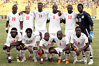 Fotball<br /> Afrika mesterskapet 2008<br /> Foto: DPPI/Digitalsport<br /> NORWAY ONLY<br /> <br /> FOOTBALL - AFRICAN CUP OF NATIONS 2008 - QUALIFYING ROUND - GROUP D - 31/01/2008 - SENEGAL v SOUTH AFRICA - SENEGAL TEAM ( BACK ROW LEFT TO RIGHT : ABDOULAYE FAYE / DIOMANSY KAMARA / PAPA BOUBA DIOP / SOULEYMANE DIAWARA / LAMINE DIATTA / BOUNA COUNDOUL. FRONT ROW : MOUSTAPHA SALL / PAPA MALICK BA / HENRI CAMARA / MAMADOU NIANG / IBRAHIMA FAYE )<br /> <br /> Senegal v Sør Afrika<br /> <br /> Lagbilde Senegal