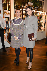 Left to right, LAURA JACKSON and LILAH PARSONS at the launch of the Space NK Global Flagship store at 285-287 Regent Street, London on 10th November 2016.