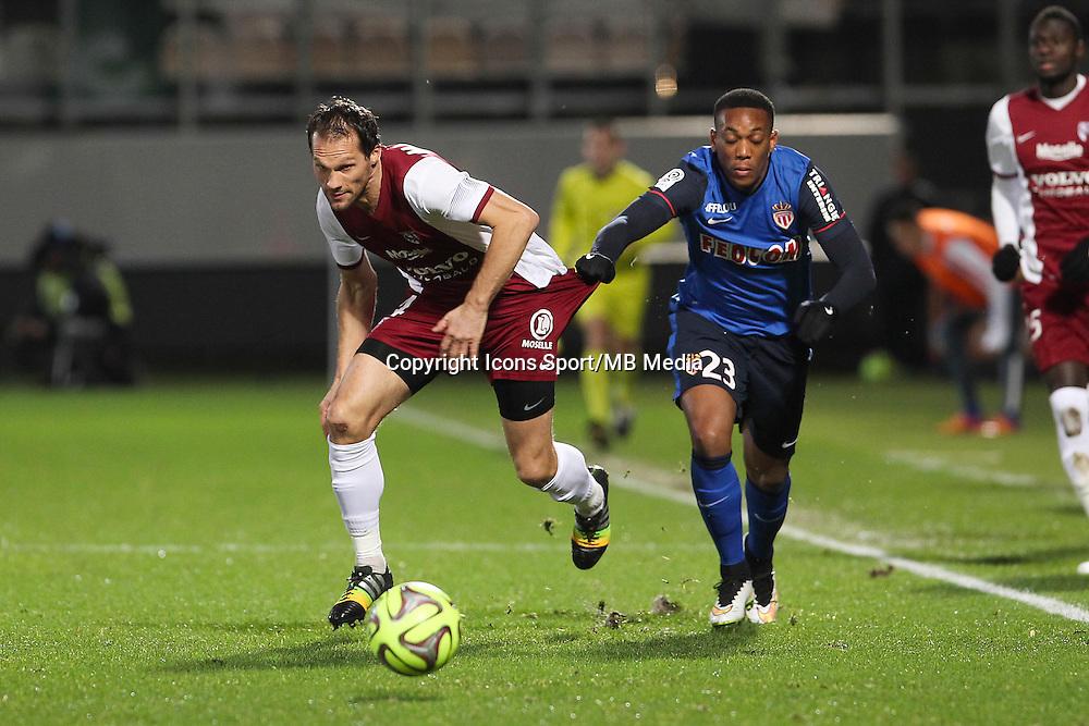 Sylvain MARCHAL / Anthony MARTIAL - 20.12.2014 - Metz / Monaco - 17eme journee de Ligue 1 -<br />Photo : Fred Marvaux / Icon Sport