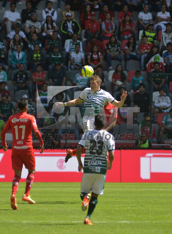 Toluca, México (Febrero 18, 2018).- Los Diablos Rojos del Toluca vencieron a Santos Laguna con un marcador final 2-0 en el partido de la jornada 8 del Torneo Clausura 2018, en el estadio Nemesio Diez.  Agencia MVT / Crisanta Espinosa.