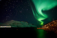 A very special photograph for me. The very first time I saw the aurora borealis (aka Northern Lights) and this is how it looked like. This shot was taken at a small village called Ersfjordbotn in Tromsø, Norway.