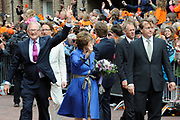 Koninginnedag 2010 . De Koninklijke familie in het zeeuwse  Middelburg. / Queensday 2010. De Royal Family in Middelburg.<br /> <br /> op de foto / on the photo : Pieter van Vollenhoven en Prinses Margriet