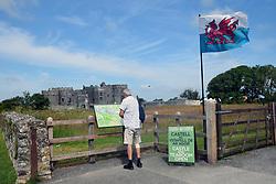Carew Castle, Pembrokeshire, South Wales 2021