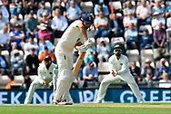 Alastair Cook of England, who is retiring from international cricket at the end of the series, batting during the first day of the 4th SpecSavers International Test Match 2018 match between England and India at the Ageas Bowl, Southampton, United Kingdom on 30 August 2018.