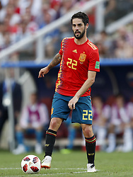 Isco of Spain during the 2018 FIFA World Cup Russia round of 16 match between Spain and Russia at the Luzhniki Stadium on July 01, 2018 in Moscow, Russia