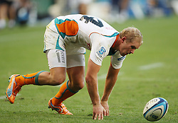 Philip Snyman fumbles the ball during the Super Rugby (Super 15) fixture between the DHL Stormers and the Cheetahs held at DHL Newlands Stadium in Cape Town, South Africa on 26 February 2011. Photo by Jacques Rossouw/SPORTZPICS