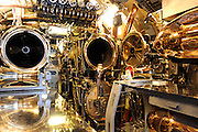 Torpedo tubes of the WW2 submarine, the USS Bowfin. USS Bowfin Submarine Museum and Park, part of the USS Arizona Memorial Museum in Pearl Harbour, Hawai. RIGHTS MANAGED LICENSE AVAILABLE FROM www.PhotoLibrary.com