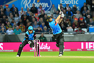Wicket - Luke Wright of Sussex is bowled by Moeen Ali of Worcestershire during the final of the Vitality T20 Finals Day 2018 match between Worcestershire Rapids and Sussex Sharks at Edgbaston, Birmingham, United Kingdom on 15 September 2018.