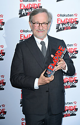 Steven Spielberg wins the EMPIRE Legend Of Our Lifetime Award at the Rakuten TV Empire Film Awards at the Roundhouse in London.