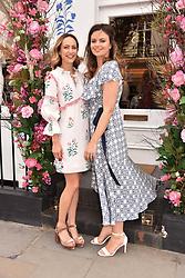 Lavinia Brennan and Lady Natasha Rufus-Isaacs at launch of the Beulah Flagship store, 77 Elizabeth Street, London England. 16 May 2018.