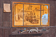 Mural on Cannery Row, Monterey, California USA