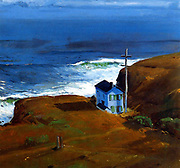 George Wesley Bellows, American (Ashcan School) Painter, 1882-1925. 'Shore House' 1911