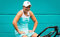 March 23, 2019 - Miami, FLORIDA, USA - Ashleigh Barty of Australia warms up for her doubles match at the 2019 Miami Open WTA Premier Mandatory tennis tournament (Credit Image: © AFP7 via ZUMA Wire)