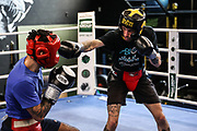 Boxen: Universum Boxpromotion, Training, Hamburg, 16.04.2021<br /> Artem Harutyunyan (GER) beim Sparring<br /> © Torsten Helmke