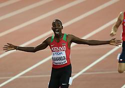 Elijah Motonel Manangoi of Kenya wins the men´s 1500 during day ten of the 2017 IAAF World Championships at the London Stadium, UK, Sunday August 13, 2017. Photo by Giuliano Bevilacqua/ABACAPRESS.COM