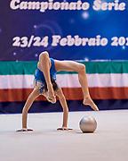 Sofia Raffaeli atleta del Team Italia di ginnastica ritmica durante il controllo tecnico ROG 2019 a Desio.