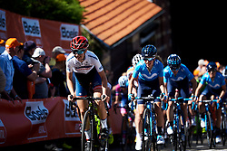Cecilie Uttrup Ludwig (DEN) on the Mur de Huy at La Flèche Wallonne Femmes 2018, a 118.5 km road race starting and finishing in Huy on April 18, 2018. Photo by Sean Robinson/Velofocus.com