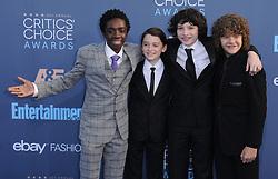 Caleb McLaughlin, Noah Schnapp, Finn Wolfhard, Gaten Matarazzo  bei der Verleihung der 22. Critics' Choice Awards in Los Angeles / 111216