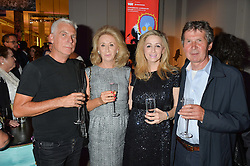 Left to right, JOHN GIDDINGS, LADY WOLFSON, her daughter  ANTOINETTE JACKSON and ? at a private view of Revolution: Records and Rebels 1966-1970 at the V&A, London on 7th September 2016.