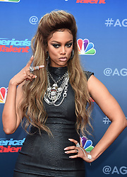 America's Got Talent red carpet kickoff held at the Pasadena Civic Auditorium on March 12, 2018 in Pasadena, Ca. © SF / AFF-USA.com. 12 Mar 2018 Pictured: Tyra Banks. Photo credit: SF / AFF-USA.com / MEGA TheMegaAgency.com +1 888 505 6342
