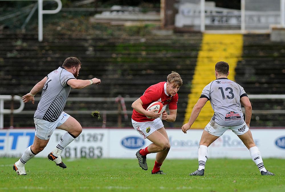 Munster A's Liam Coombes in action during todays match<br /> <br /> Photographer Ashley Crowden/CameraSport<br /> <br /> The British & Irish Cup Pool 1 - Ospreys Premiership Select v Munster A - Saturday 14th October 2017 - St Helen's, Swansea<br /> <br /> World Copyright © 2017 CameraSport. All rights reserved. 43 Linden Ave. Countesthorpe. Leicester. England. LE8 5PG - Tel: +44 (0) 116 277 4147 - admin@camerasport.com - www.camerasport.com