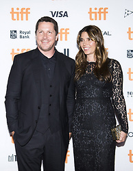 September 11, 2017 - Toronto, on, Canada - Actor Christian Bale, left, and his wife Sibi Blazic pose for photographs on the red carpet for the movie ''Hostiles'' during the 2017 Toronto International Film Festival in Toronto on Monday, September 11, 2017. THE CANADIAN PRESS/Nathan Denette (Credit Image: © Nathan Denette/The Canadian Press via ZUMA Press)