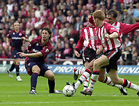 Photo: Greig Cowie, Digitalsport<br /> 27/09/2003.<br /> FA Barclaycard Premiership. Southampton v Middlesbrough, The St Marys Stadium.<br /> Malcolm Christie shoots