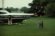 President Jimmy Carter kissing his wife goodbye on the South Lawn of the White House in June 1979<br /> <br /> Photograph by Dennis Brack<br /> bb45