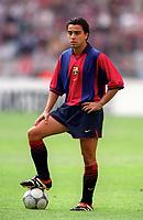 Xavi - Barcelona. Barcelona v Lazio. The Amsterdam Tournament. Amsterdam Arena, 5/8/2000. Credit: Colorsport / Stuart MacFarlane.
