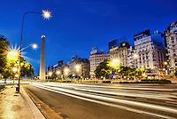 El Obelisco & Avenida 9 de Julio, Early Morning