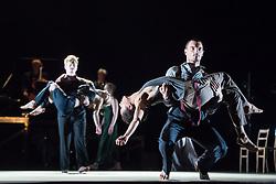 © Licensed to London News Pictures. 05/06/2013. Clod Ensemble's Zero, London Premier. Sadler's Wells Theatre, London. Picture features Maciei Kuzminski & Karima El Amrani. Photo credit: Tony Nandi/LNP
