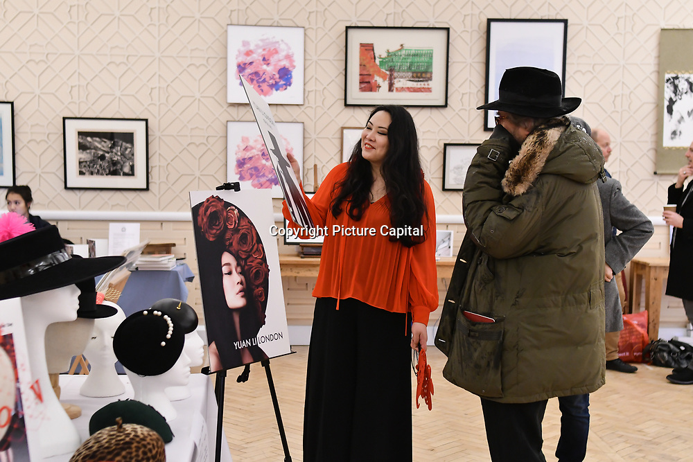 Yuan Li London exhibition at Winter blossom fair: A celebration of east asian art, craft and design at China Exchange on 10 November 2018, London, UK.