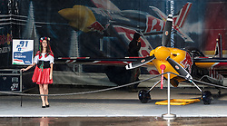 05.09.2015, Red Bull Ring, Spielberg, AUT, Red Bull Air Race, Spielberg, Qualifikation, im Bild die Boxengasse von Peter Besenyei (HUN) // the Plane from Peter Besenyei of Hungary at the Pitlane during the qualifying of Red Bull Air Race Championships 2015 at the Red Bull Ring in Spielberg, Austria on 2015/09/05. EXPA Pictures © 2015, PhotoCredit: EXPA/ JFK