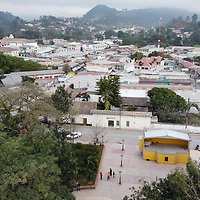 An aerial shot of Marcala City in La Paz, Honduras. Marcala is an important centre of coffee production in the country.