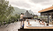 relaxing after kayaking os Sup on the water of the Fjord, Frafjord Spa, Balsam fom Sjela