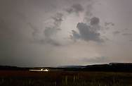 New Paltz, New York - Lightning illuminates the sky above New Paltz on May 27, 2012.