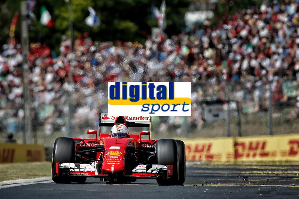 VETTEL Sebastian (ger) ferrari sf15t action  during the 2015 Formula One World Championship, Grand Prix of Hungary from July 23rd to 25th 2015, Hungaroring, Budapest. Photo Francois Flamand / DPPI