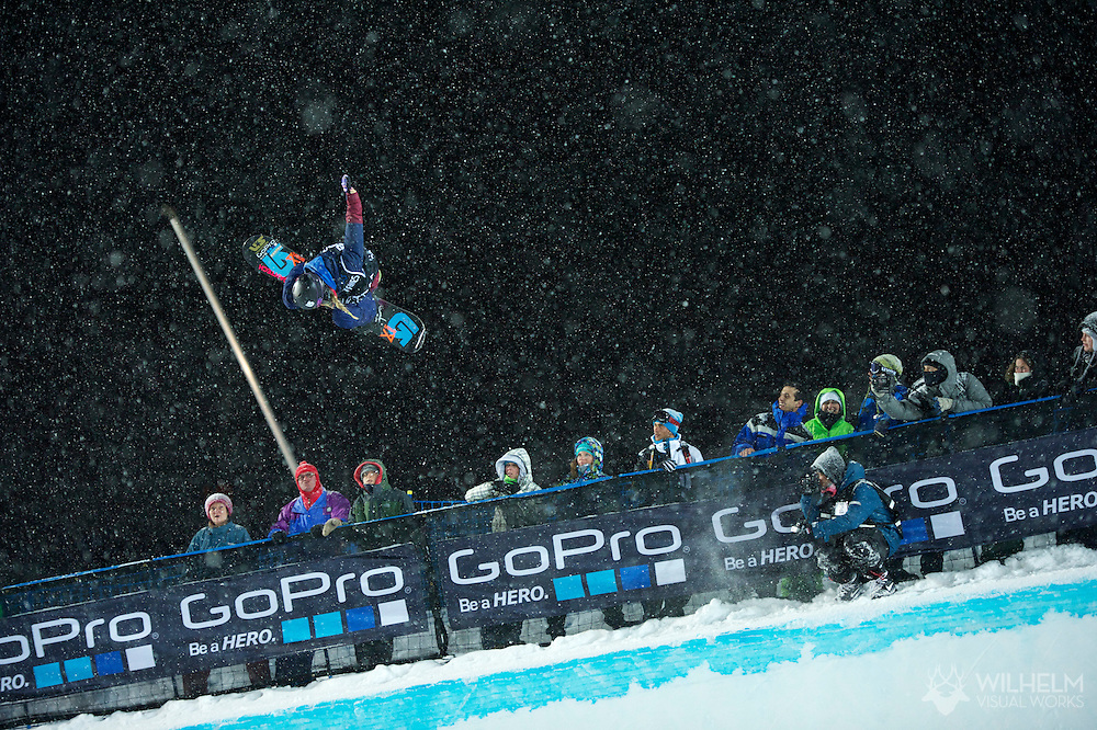 Hannah Teter during Women's Snowboard SuperPipe Finals at the 2013 X Games Tignes in Tignes, France. ©Brett Wilhelm/ESPN