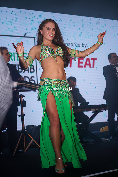 Dancers preforms at the 5th British Kebab Awards at Park Plaza Westminster ,London,UK. by See Li