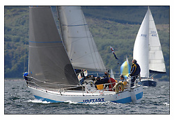 The third days racing at the Bell Lawrie Yachting Series in Tarbert Loch Fyne ..Perfect conditions finally arrived for competitors on the three race courses...1156C Upstart CYCA 8 Class winner..