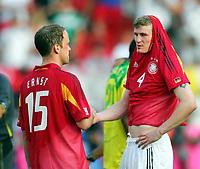 Fotball<br /> Confederations Cup 2005<br /> 25.06.2005<br /> Tyskland v Brasil 2-3<br /> Foto: Witters/Digitalsport<br /> NORWAY ONLY<br /> <br /> v.l. Fabian Ernst, Robert Huth GER