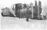 """RGS 2-8-0 #2 in Rico with crew.<br /> RGS  Rico, CO  1/1916<br /> In book """"RGS Story, The Vol. XII: Locomotives and Rolling Stock"""" page 15"""