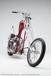 Harmans Way, a custom motorcycle built from a 1957 Panhead, by Freddie Arnold. Photographed by Michael Lichter in Charlotte, SC, USA on 1/24/19. ©2019 Michael Lichter.