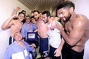 DESCRIZIONE : Forli DNB Final Four 2014-15 Gecom Mens Sana 1871 Eternedile Bologna<br /> GIOCATORE : team Pietro Basciano<br /> CATEGORIA : esultanza postgame premiazione<br /> SQUADRA : Eternedile Bologna<br /> EVENTO : Campionato Serie B 2014-15<br /> GARA : Gecom Mens Sana 1871 Eternedile Bologna<br /> DATA : 13/06/2015<br /> SPORT : Pallacanestro <br /> AUTORE : Agenzia Ciamillo-Castoria/M.Marchi<br /> Galleria : Serie B 2014-2015 <br /> Fotonotizia : Forli DNB Final Four 2014-15 Gecom Mens Sana 1871 Eternedile Bologna