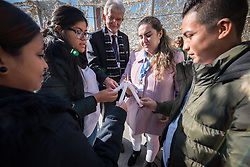 7 December 2019, Madrid, Spain: A group light candles together, as people of faith gather in a 'Prayer for the Rainforest' as part of the Cumbre Social por el Clima, on the fringes of COP25 in Madrid, where faith-based organizations continue to urge decision-makers to take action for climate justice.