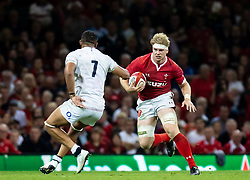 Aaron Wainwright of Wales<br /> <br /> Photographer Simon King/Replay Images<br /> <br /> Friendly - Wales v England - Saturday 17th August 2019 - Principality Stadium - Cardiff<br /> <br /> World Copyright © Replay Images . All rights reserved. info@replayimages.co.uk - http://replayimages.co.uk