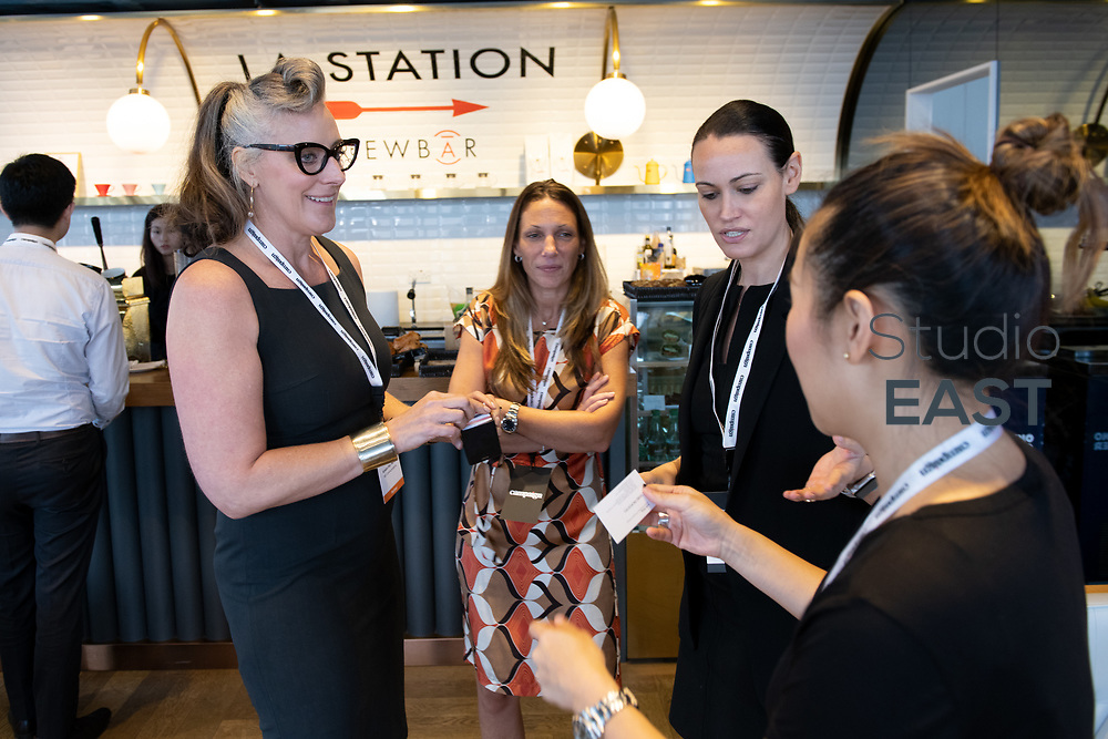End of event and networking, during Brands in Motion Breakfast Briefing in Hong Kong, China, on 21 September 2018. Photo by Lucas Schifres/Studio EAST